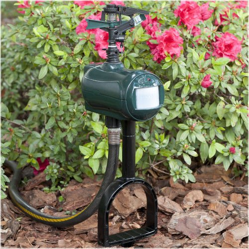 NEW Home & Garden Outdoor Plant Protection Spray Away Motion Activated Sprinkle